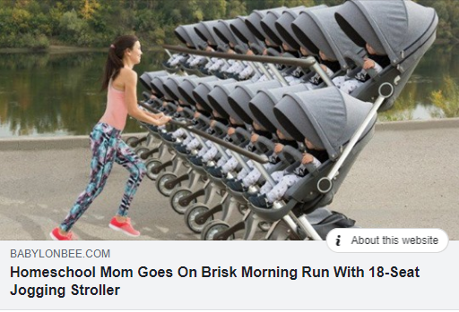 Homeschool Mom Goes On Brisk Morning Run With 18-Seat Jogging Stroller