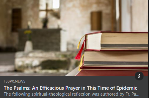 The Psalms: An Efficacious Prayer in This Time of Epidemic