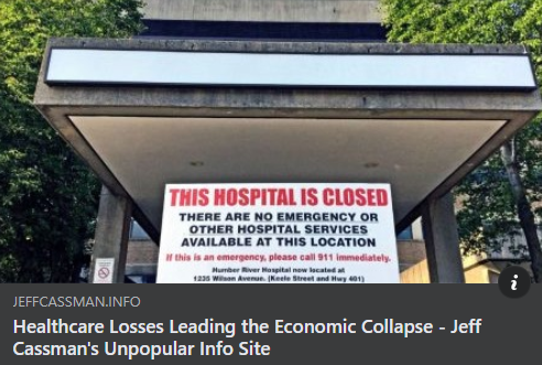 Healthcare Losses Leading The Economic Collapse