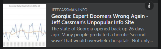 Georgia: Expert Doomers Wrong Again