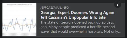 Georgia: Expert Doomers Wrong Again